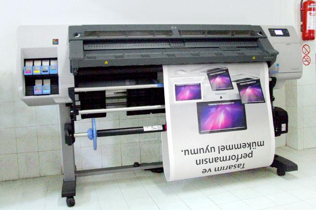 Hp designjet l26500 1524 mm dış mekan dijital baskı makinası